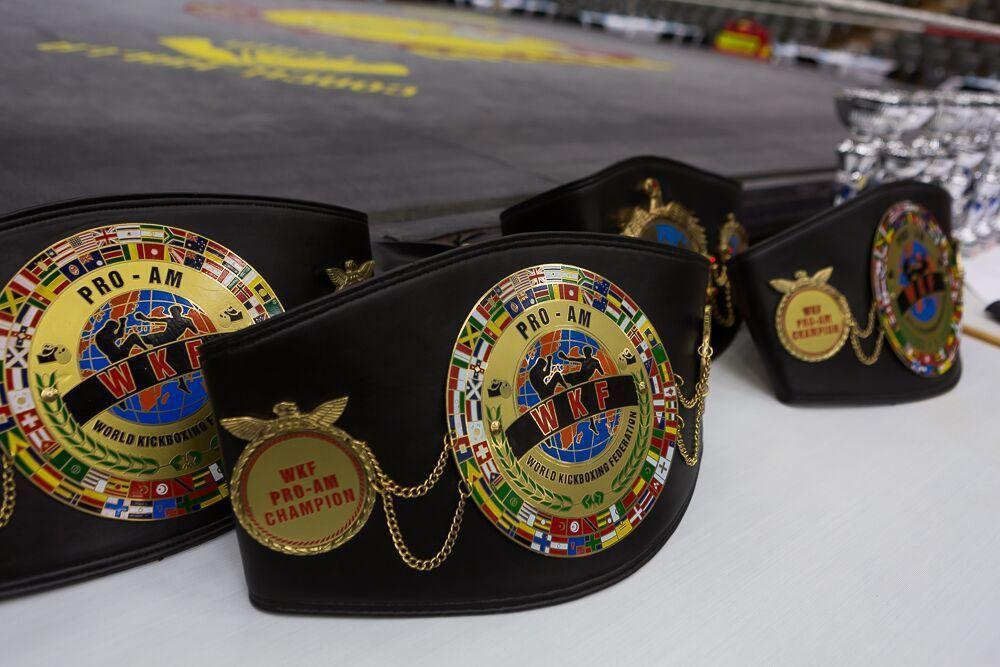 WKF PRO-AM title belts